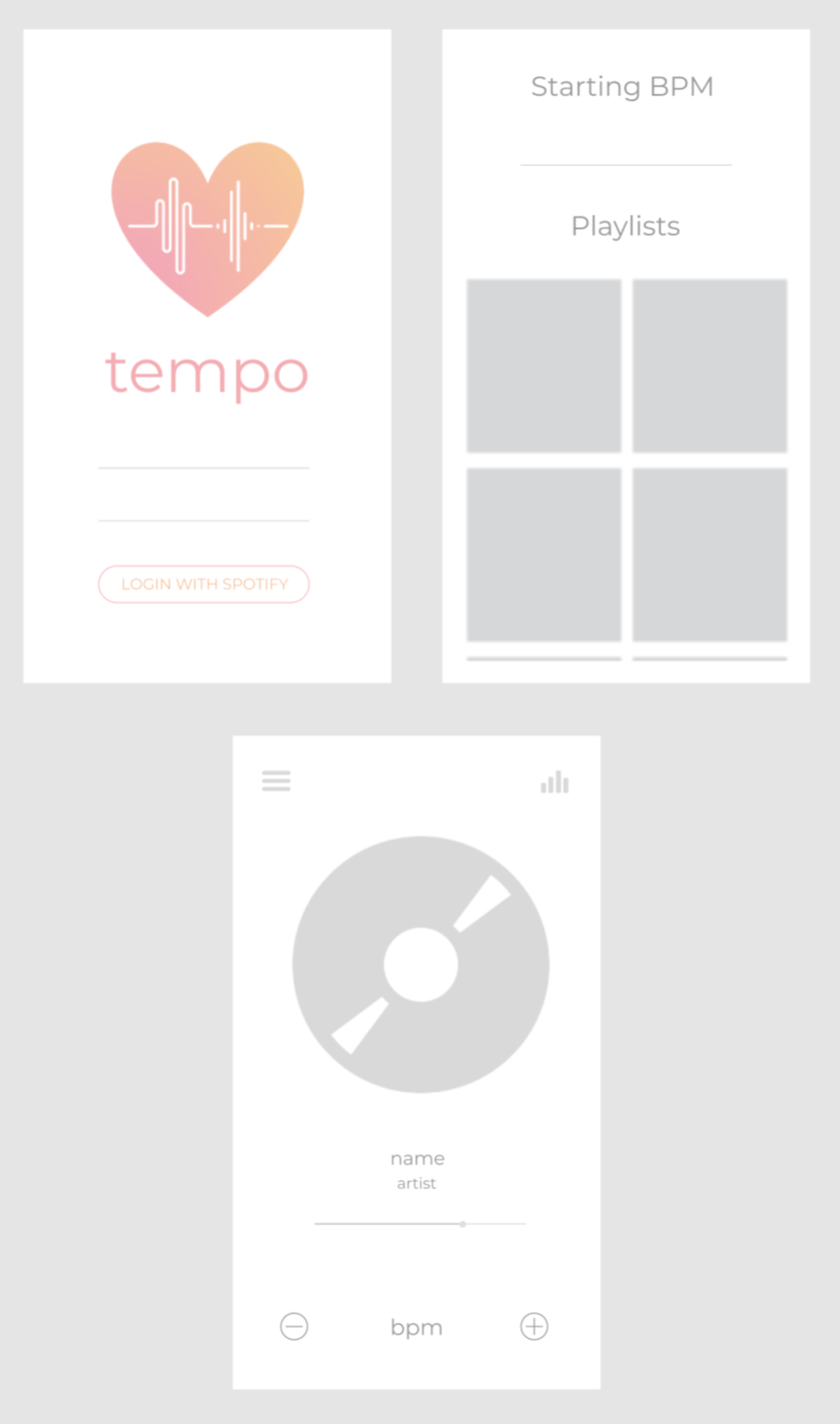 Angela Dong - Tempo wireframe